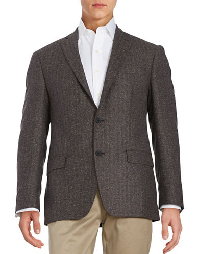 michael kors male herringbone twobutton woolblend jacket