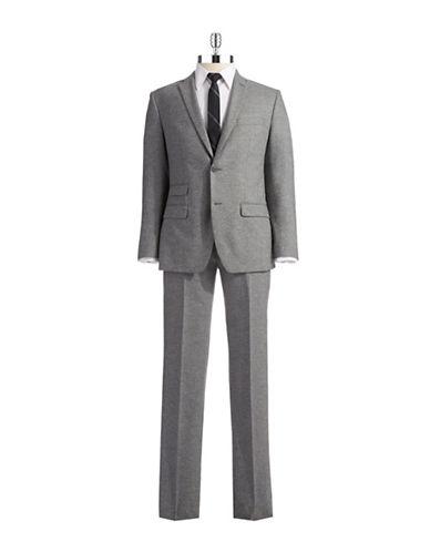 DKNY Modern Fit 2 Piece Suit with Ticket Pocket