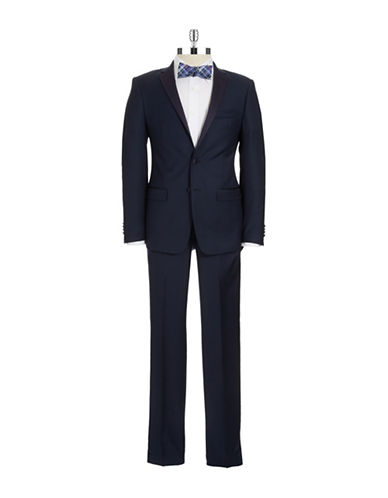 MICHAEL KORS Navy Two Piece Flat Front Tuxedo