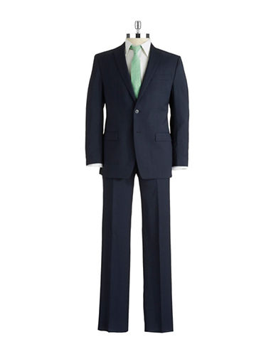 CALVIN KLEIN Striped Wool Suit