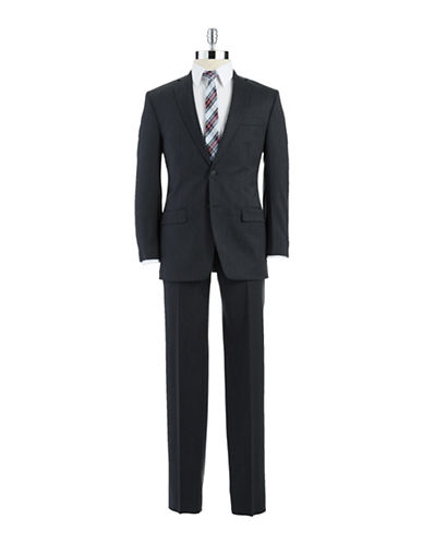 CALVIN KLEIN Modern-Fit Single-Breasted Wool Suit