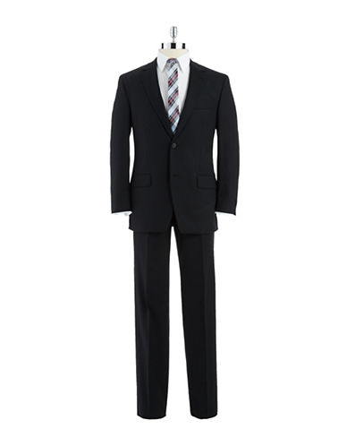 BLACK BROWN 1826 Modern FIt 2-Button Black Wool Suit