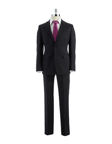 DKNY Modern Fit Solid Wool Suit
