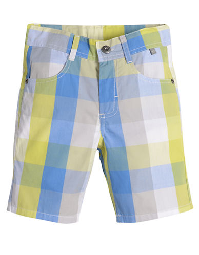 PETIT LEM Boys 2-7 Urban Squad Plaid Shorts