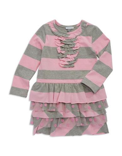 PETIT LEMGirls 2-6x Striped Ruffle Dress