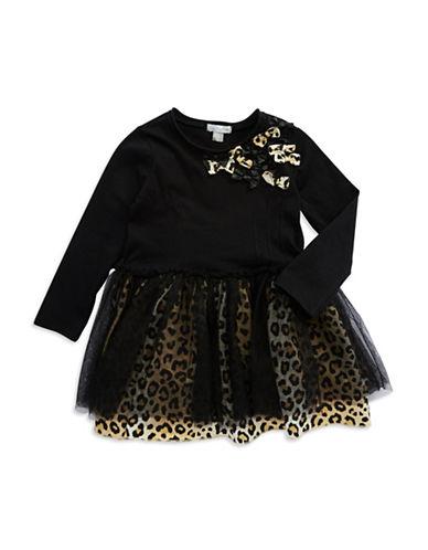 PETIT LEMGirls 2-6x Leopard Print Fit and Flare Dress