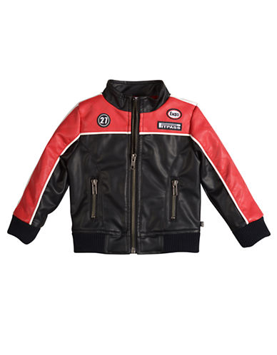 PETIT LEMBoys 2-7 Formula One Pleather Jacket