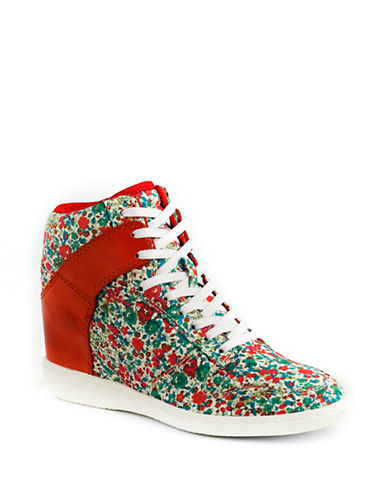 LORD & TAYLORLiberty of London Trombly Printed High-Top Sneakers