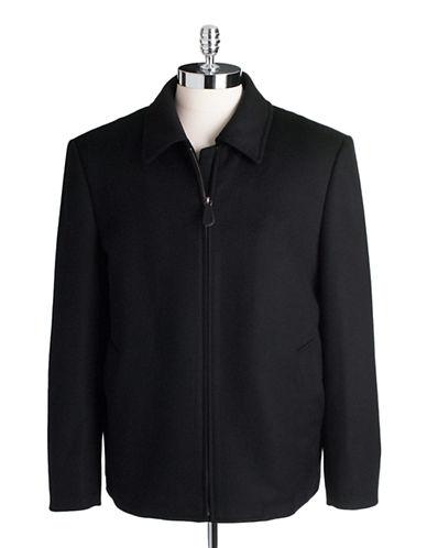 BLACK BROWN 1826Wool/Cashmere Zip-Front Jacket