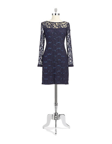 Shop Js Collections online and buy Js Collections Blush Lace Dress dress online