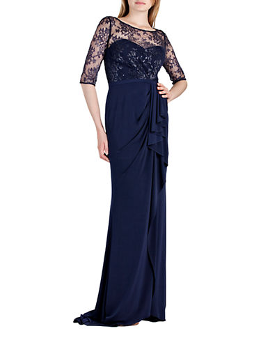 Metallic Lace Bodice Gown $81.25 AT vintagedancer.com