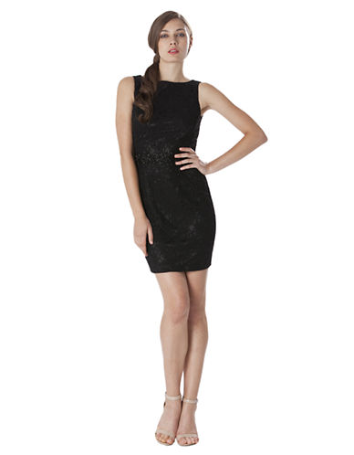 JS BOUTIQUE Beaded Lace Sheath Dress
