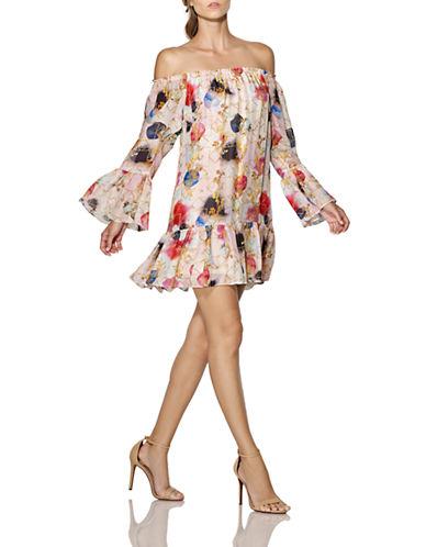 Shop Cynthia Rowley online and buy Cynthia Rowley Off-The-Shoulder Silk Chiffon Dress dress online