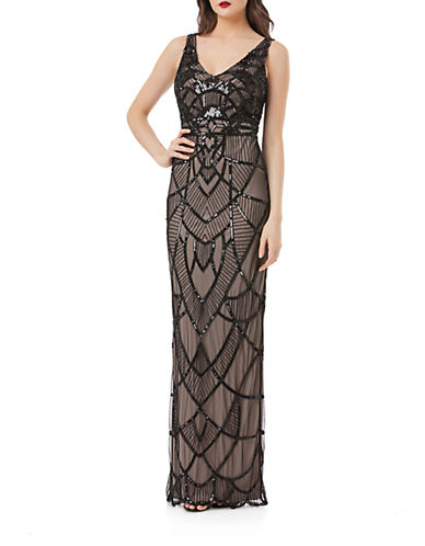 Art Deco Beaded Gown $215.20 AT vintagedancer.com