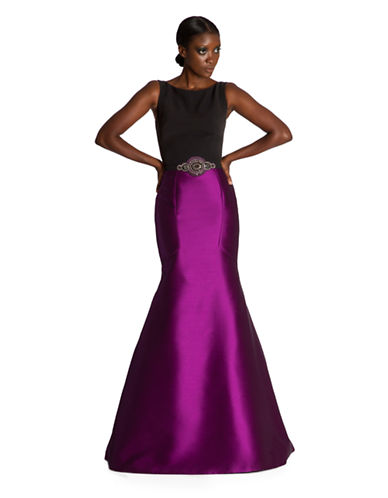 Shop Theia online and buy Theia Colorblock A Line Gown dress online