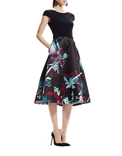 THEIAFloral Fit-And-Flare Dress