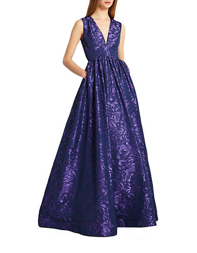 Jacquard A-Line Gown $998.00 AT vintagedancer.com