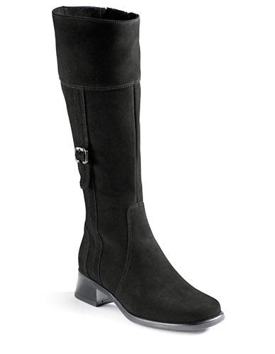 LA CANADIENNEVelvet Suede Riding Boots