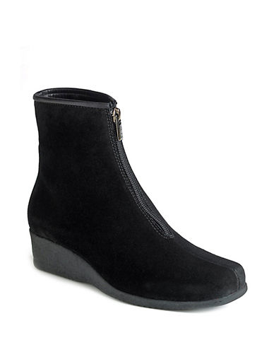 LA CANADIENNESharlina Zip-Up Wedge Ankle Boots