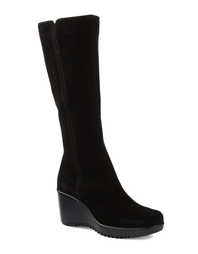 LA CANADIENNE Gaby Tall Suede Wedge Boots