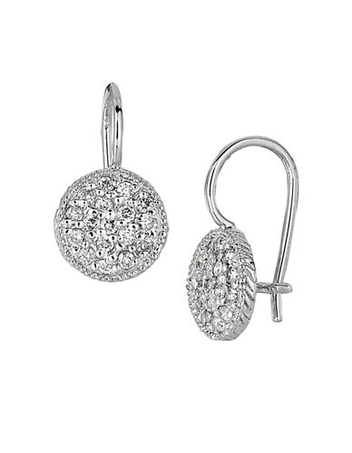 LORD & TAYLOR 0.65 ct t w Diamond Drop Earrings in 14 Kt White Gold