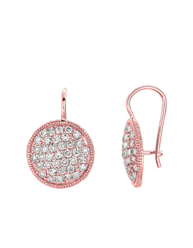 LORD & TAYLOR 14Kt Rose Gold and Diamond Drop Earrings