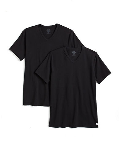 CALVIN KLEIN Two-Pack V-Neck Stretch Cotton T-Shirts