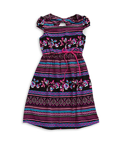 2 HIPGirls 7-16 Tribal Fit-and-Flare Dress