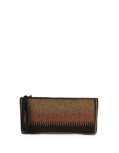 mary frances female ombre beaded clutch