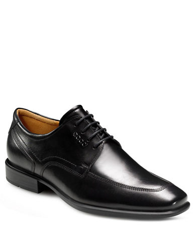 ECCO Cairo Leather Apron Toe Tie Loafers