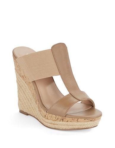 Charles By Charles David Alto Leather Platform Wedge Sandals