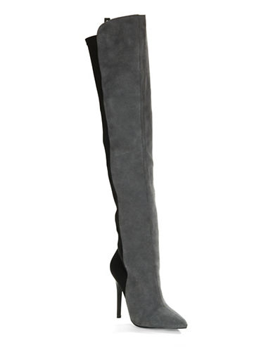 CHARLES BY CHARLES DAVIDPepper Split-Suede Over-the-Knee Boots