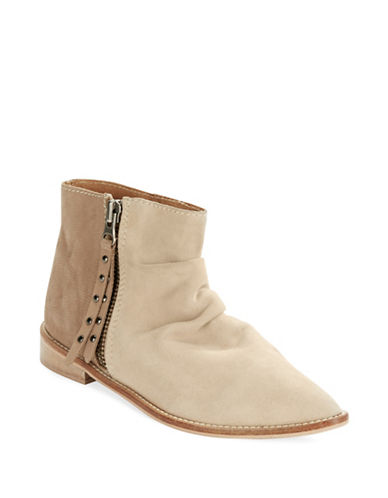 CHARLES BY CHARLES DAVID Brody Suede and Leather Ankle Boots