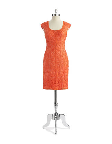 Shop Sue Wong online and buy Sue Wong Floral Textured Shift Dress dress online