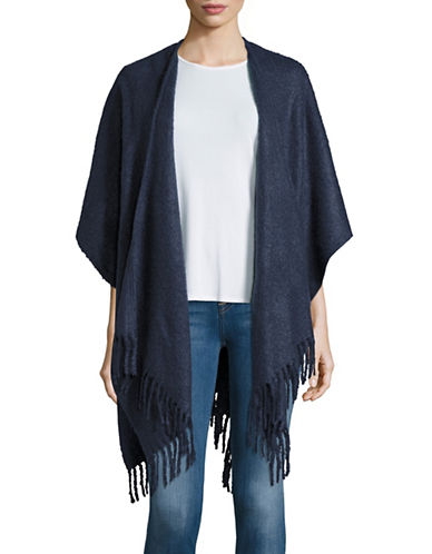 echo female 237956 fringed poncho scarf