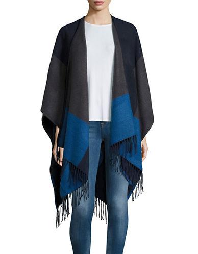 echo female 236621 colorblocked poncho scarf