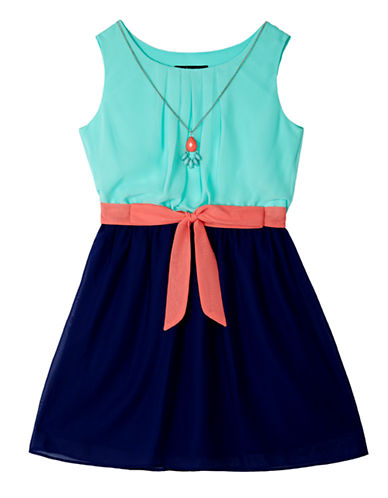 Ally B Girls 7-16 Fit-and-Flare Dress