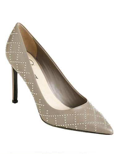 DELMAN Bobbi Studded Leather Pumps