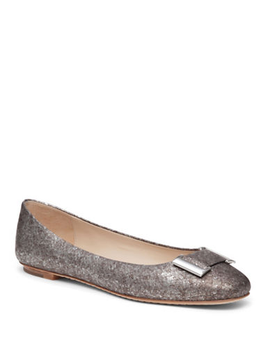 Buy Froth Embossed-Leather Flats by Delman online