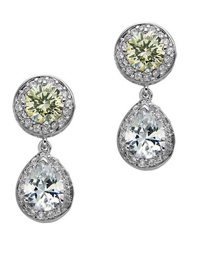 NINA Summer Cubic Zirconia Round and Pear Cut Drop Earrings