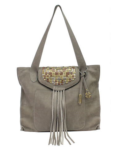 LUCKY BRAND Metal Works Studded Leather Tote Bag