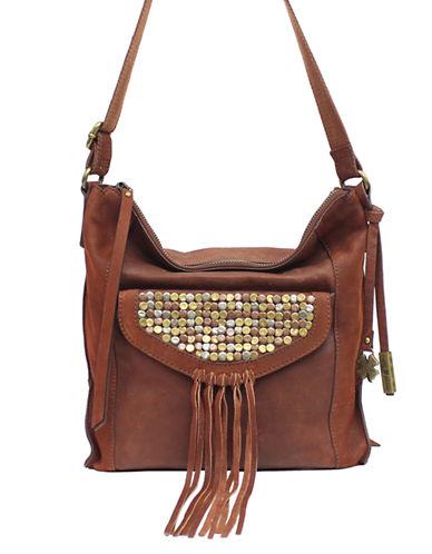 Upc 639470558362 Product Image For Lucky Brand Metal Works Studded Leather Crossbody Bag Upcitemdb