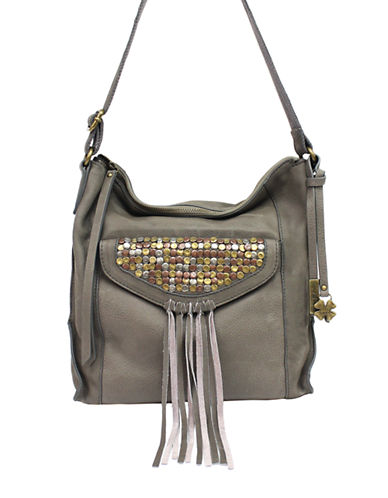 LUCKY BRAND Metal Works Studded Leather Crossbody Bag