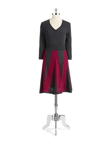 Spense Patterned Sweater Dress