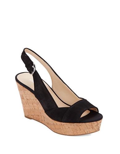 Nine West Caballo Leather Platform Wedge Sandals