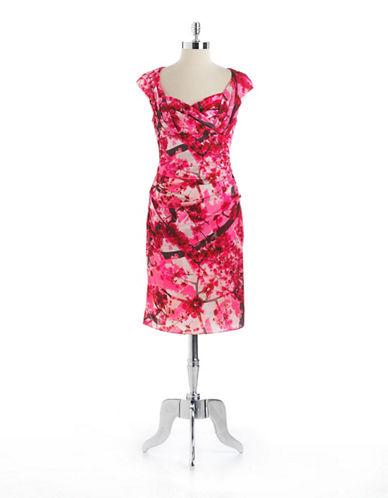 SUZI CHINFloral Print Cocktail Dress
