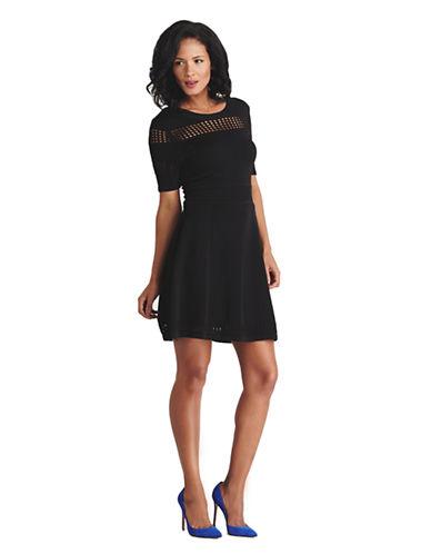 ALI ROPointelle Knit Dress