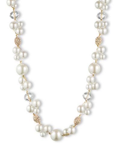 ANNE KLEIN 12Kt. Gold and Pearl Necklace