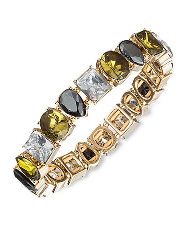 ANNE KLEIN Gold Tone and Multi Color Mixed Crystal Bracelet