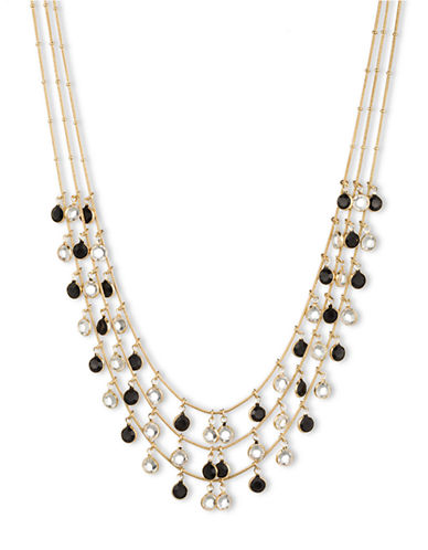 ANNE KLEINFaceted Crystal Frontal Necklace